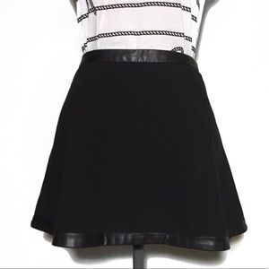 BR Black Skater Skirt with Faux Leather Trim 4P